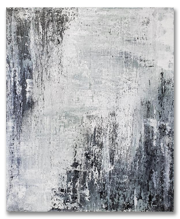 Details About Large Modern Abstract Painting Contemporary Original Wall Art Black White Canvas